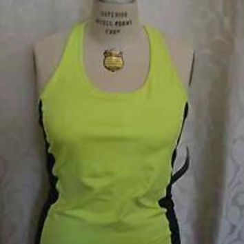 RALPH LAUREN Performance ATHLETIC Active XL Lime Black White Green TANK TOP