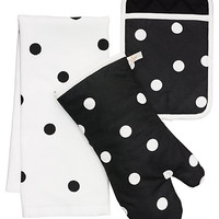 Kate Spade Le Pavillion Dot Three-Piece Set Black/White ONE