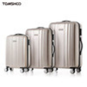 "TOMSHOO Luxury Shiny 3PCS Luggage Set Carry-on Suitcase PCABS Trolley 20""24""28"" Hard Shell TSA Lock Spinner Set Valise Koffer SM6"