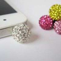 Bling Bling Ball - iPhone earphone plug dust plug - Pick your color