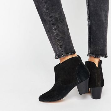 Hudson London Black Kiver Ankle Boot