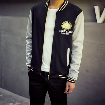 Mens Trendy Sports Letterman Jacket