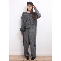 High-Low Jumper + Knit Pants Co-Ords