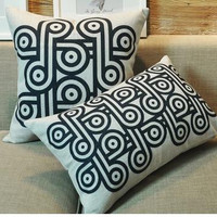theme gift pillowcase linen pillow abstract geometric pattern pillow cushions home and linen cover hot