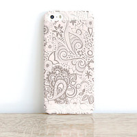 Paisley iPhone 6 Case Clear iPhone 5 Case Clear Henna iPhone 5 Case iPhone 6 Case Paisley iPhone 5 Case Henna Samsung Galaxy S5 Case Clear