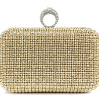 Scarleton Crystal Clutch Bag H322318 - gold