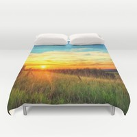 Paint Me A Sunset  Duvet Cover by Vicki Field