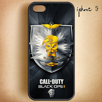 Call Duty Black Operations 2 Logo 7-Design On Hard Plastic Cover Case, IPhone 4,4S or IPhone 5 Case, Samsung Galaxy S2,S3 or S4 Case