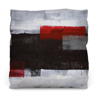 Red Over Black Throw Pillow