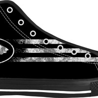 """""""The BAT"""" Well known comic style reference, superhero like sign black high top sneakers"""