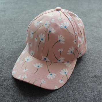 LMFUS4 Summer Baseball Caps Women Snapback Caps Floral Outdoor Sun Hats For Girls Fashion Free Shipping