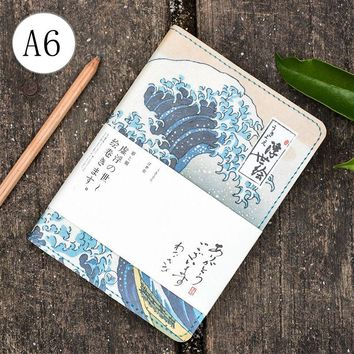 Vintage Japan Fashion Yamato-e Theme A6 Journal DIY Daily Plan 192P Suit For Hobonichi Inner Book 2017/2018 Undated Agenda Note