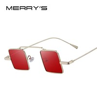 MERRY'S Vintage Steampunk Square Sunglasses