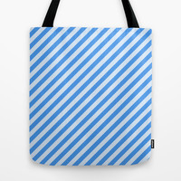 Blue Stripes Tote Bag by Tami Art