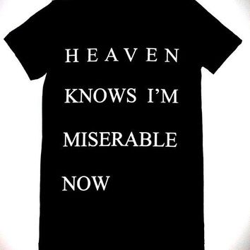 Womens Heaven Knows I'm Miserable Now T Shirt  S, M,  L, XL the smiths morrissey