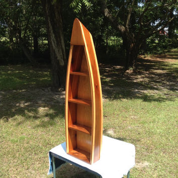 4ft Handcrafted Cedar Boat Shelves for Home Decor
