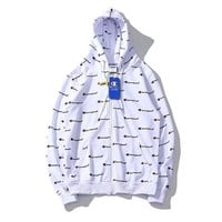 Champion Women Ethnic Snowflake Print Hoodie Cute Top Sweater