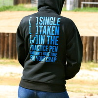 """SINGLE TAKEN"" ZIP UP HOODIES (UNISEX)"