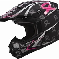 GMAX 2014 GM76X Pink Ribbon Graphics Helmet Available at Motocrossgiant.com