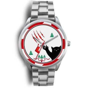 Cat Print Christmas Special Wrist Watch-Free Shipping