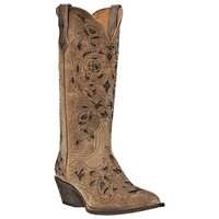 Miranda Leather Boot, tan with brown underlay.