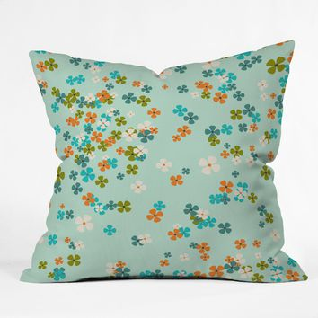 Heather Dutton Delilah Blue Throw Pillow
