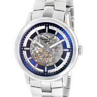 Kenneth Cole New York Men's KC9084 Automatic Automatic Clear Dial Blue Details Watch