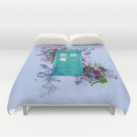 Doctor Who Duvet Cover by Laain Studios