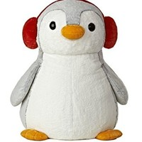 "Aurora World PomPom Penguin with Red Muffs Plush Toy, 34"" Tall"