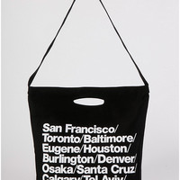 Bull Denim Woven Cotton Cities Bag with Strap   American Apparel