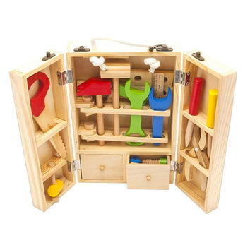 Baby Toys Kids Wooden Multifunctional Tool Set Maintenance Box Wooden Toy Baby Nut Combination Chirstmas Birthday Gift