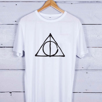 Deathly hallows Tshirt T-shirt Tees Tee Men Women Unisex Adults
