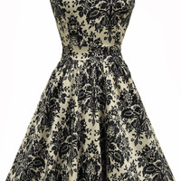 Damask Delight Print Tea Dress