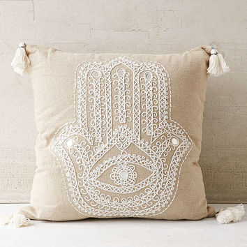 Plum & Bow Embroidered Hand Pillow - Urban Outfitters