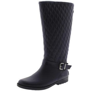 Guess Womens Lulue Quilted Mid-Calf Rain Boots