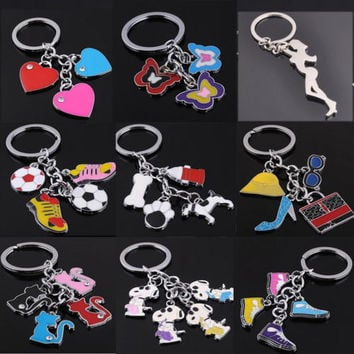 2017 Key Chain Corgi Cat Dog Figure Key Ring Shape Lovely Keychain Car Keyring b