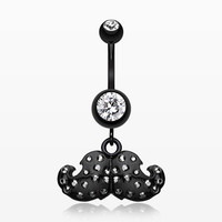 Glam Mustache Belly Button Ring