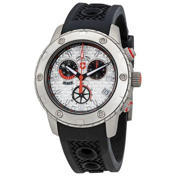 Swiss Military Rallye GMT Silver Dial Mens Watch 2745