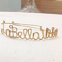 Custom Wire La Bella Vita Bracelet (MADE TO ORDER) The Beautiful Life, Italian Bracelet, Gold Bracelet, Silver Bracelet, Copper Bracelet