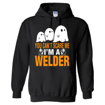 Halloween You Cant Scare Me I Am A Welder - Heavy Blend™ Hooded Sweatshirt