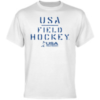 USA Field Hockey Stenciled T-Shirt - White