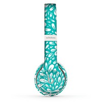 The Teal and White Floral Sprout Skin Set for the Beats by Dre Solo 2 Wireless Headphones