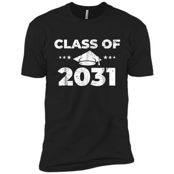 Class of 2031  Grow With Me First Day of School  Next Level Premium Short Sleeve Tee