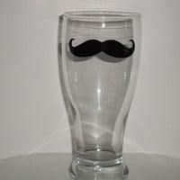 Mustache Beer Glass - Pilsner Beer Glass - Housewares - Glassware - Barware