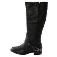 Authentic UGG Australia Channing II Tall Women's Black Buckle Riding Winter Boots 1001637