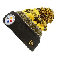 Men's New Era Cap 'Snowburst - NFL Pittsburgh Steelers' Pom Knit Cap