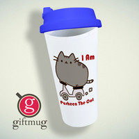Parody Pusheen The Cat Funny Double Wall Plastic Mug
