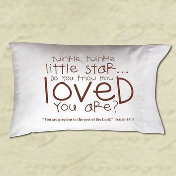 Pillow Case -Do You Know How Loved You Are? (Christian Gift)