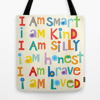 I am smart Tote Bag by Ellen Crimi-Trent