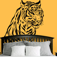 Wall Decal Vinyl Sticker Decals Art Decor Design Tiger Lion Head Leopard Panter Animals Speed Nature Wild Cat Fashion Bedroom Dorm (r570)